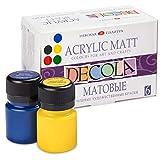 Decola Colori Acrilici Per Dipingere Effetto Opaco | Set Pittura Acrilica Da 6x20 millilitri | Per ogni superficie | Creati in Russia Da Neva Palette