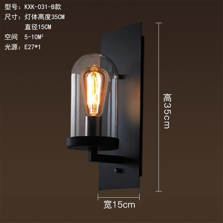 MDERTY LED Wandleuchte Antique Wandleuchte Industrial Wind Gang Loft Wasserleitung Schmiedeeisen Moderne Wandleuchte Leuchten für Wohnzimmer Schlafzimmer Badezimmer Küche Esszimmer