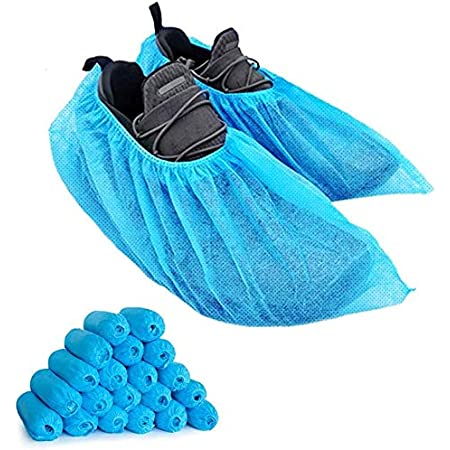 100//200PCS Non-Woven Shoe Boot Covers Indoor Non Slip Floor Protectors Durable