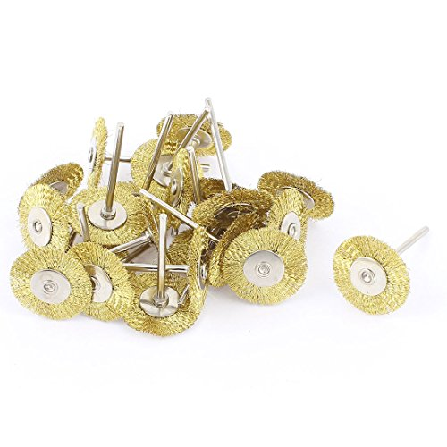 Aexit 2,3mm Grob- & Feinpoliturzubehör Schaft Scheibenbürste 2,5cm Polieren Polieren Gold Polierscheiben Ton 22