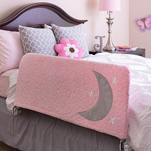 Bed Rail for Toddlers - Includes Beautiful Cover with Inside Pocket - Folds Down, Safety Side Guard Rail for Kids - Extra Long 54