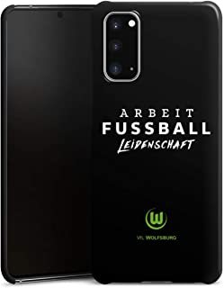 DeinDesign Premium Case kompatibel mit Samsung Galaxy S20 Smartphone Handyhülle Hülle matt VFL Wolfsburg Offizielles Lizenzprodukt Statement