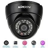 KKmoon Cámara domo de vigilancia de seguridad de color IR de gran angular de día y noche CCTV HD (960H 800TVL 1/3 CMOS) Negro