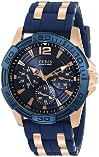 GUESS Mens U0366G4 Iconic Blue Multi-Function Stainless Steel Sport Watch