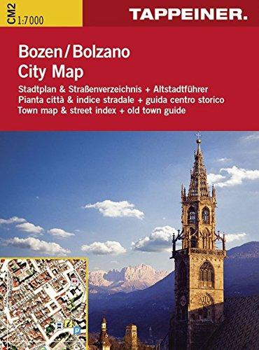 Stadtplan Bozen Citymap: Cartina Stradale Bolzano Citymap (Straßenkarte City Map) (Stadtplan City Map / Pianta Città Citymap)