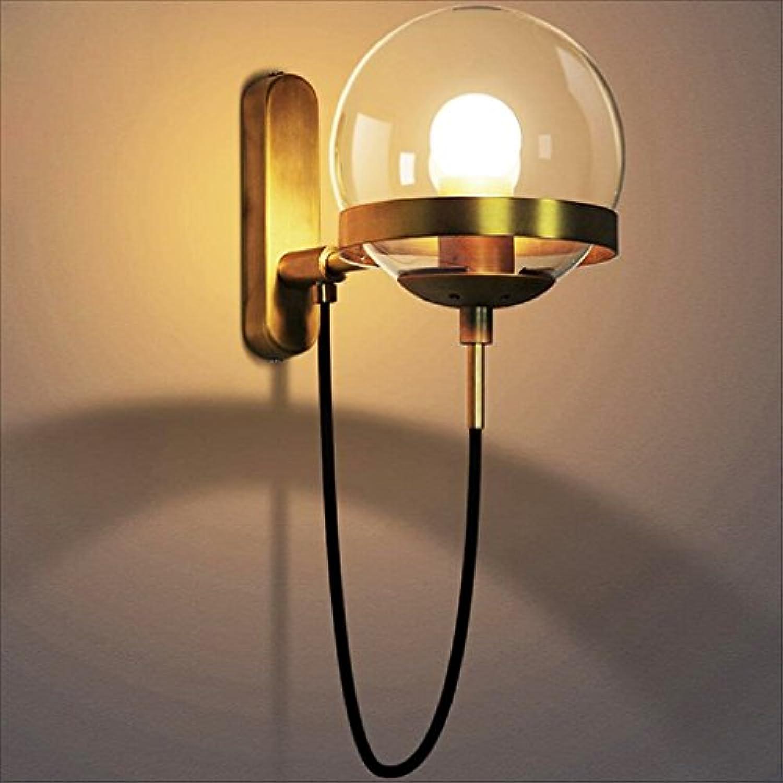 Wandleuchte spotlight lampe lampe Europischen wohnzimmer lampe kupfer glas Amerikanischen schlafzimmer nachttischlampe gelb schwarz vintage (Farbe   B)