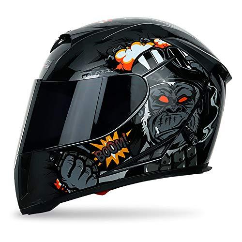 He-art Integralhelm Street Motocycle Racing Atmungsaktive Maske Hautfreundliches Futter Motocross Modular Flip Up Sonnenschutz Winddicht Kopfschutz Ece-zertifiziertes ABS,B,L