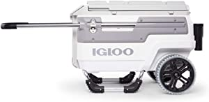 Igloo Trailmate Marine Grade 70 Quart Ultratherm Insulated Wheeled Ice Chest Cooler for Camping, Boating, or Fishing