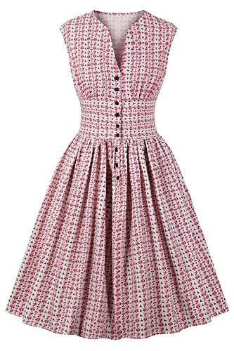 MisShow Damen V-Ausschnit Petticoat Kleid Kleider Petticoat Kleid Abschlusskleider günstige...