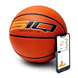 SiQ Smart Basketball - Automated Shot Tracking - Improve Your Game! Connects to SIQ App - Automatically Analyzes Shot Distance, Misses, and More! Game Ball (Women's/Youth-28.5)