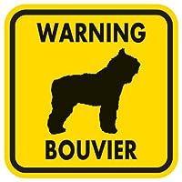 WARNING BOUVIER マグネットサイン:ブービエ(イエロー)Mサイズ