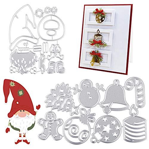 UFLF 2 Juego de Troqueles Navidad Troqueles Scrapbooking Corte Metal Plantillas...