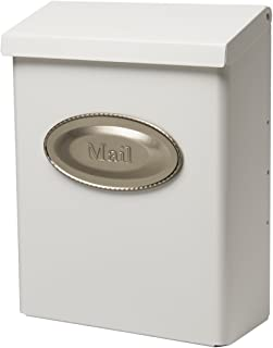 Gibraltar Mailboxes Designer Locking Medium Capacity Galvanized Steel White, Wall-Mount Mailbox, DVKW0000