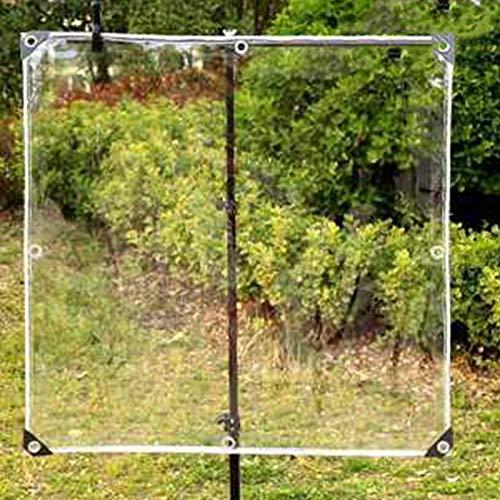 HJHNZDZH Lona Transparente de Vidrio, 365 G / ㎡, Carpa de Pvc Transparente Impermeable a Prueba de Polvo a Prueba de Lluvia, Toldo Transparente de 0.35 Mm para Patio con Ojales, para Jardinería, Campi