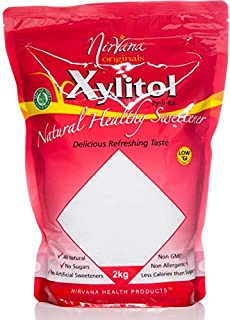 Nirvana Originals Xylitol Natural Healthy Sweetener Stand-Up Pouch Ziplock 2 kg
