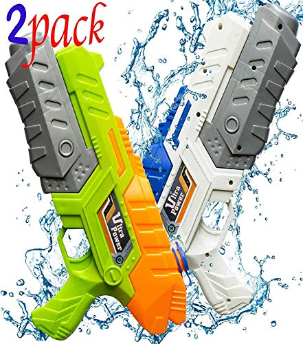Favorite.Time. Water Guns Blaster Squirt Shooters Watergun for Kids Long Range Outdoor Toys 2 Pack