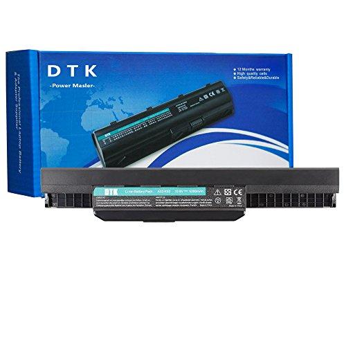 DTK Standard Serie A32-K53 A41-K53 Batteria per Portatile Asus X53S K53SD X54HR K53SV X54C K53SV X54C K53SV X54C X53E K53U X54l A53U P53S K53S K53SC A53B A54C A54H K53E X53TA X54 (6 Pile 4400mAh 10.8V Nero)