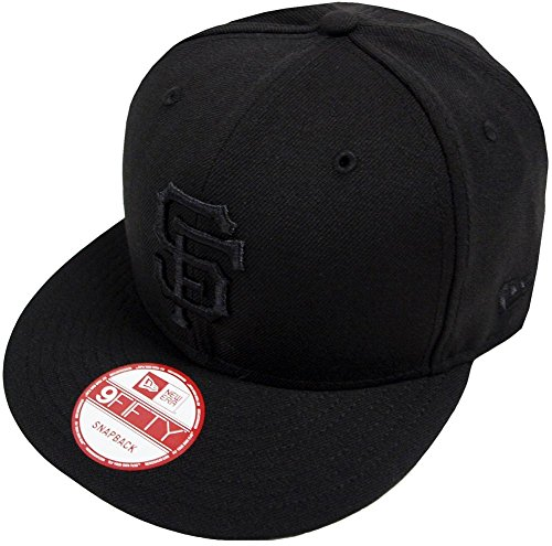 New Era San Francisco Giants Black On Black Snapback Cap 9fifty Limited...