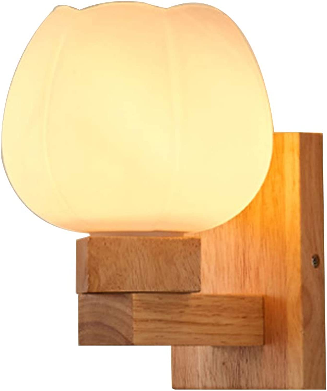 Umweltschutz Massivholz Wandleuchte Wandlampe Leuchte Holz-Leuchte modern Holzlampe Wand hlzernes Schlafzimmer-Bett-Kopf-Wand-Sconce Wand-Lampe einfaches Wohnzimmer-Gang-Balkon-Lampe,B