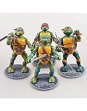 Teenage Mutant Ninja Turtles 4 TMNT beweegbaar geanimeerd personagemodel Action Figure Standbeelddecoratie 16 CM - Verrassend grote waardecollectie