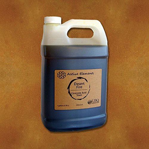 Official Concrete Acid Stain penetrating Acid Stain for Concrete Surfaces Desert Fire (red, Brown, Terra Cotta) - 1 Gallon