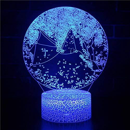 Copo de nieve Luz Noche para Niños LED lámpara de ilusión Luz...