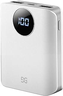 2019ミニ進化版 モバイルバッテリー 10000mAh 最小最軽量 大容量 持ち運び充電器 LCD残量表示 急速充電 携帯充電器 スマホ充電器 小型 iPhone Android各種対応