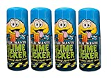 Slime Licker 4-Pack of Sour Rolling Liquid Candy - FOUR bottles of Blue Razz Flavored Candy - TikTok Inspired