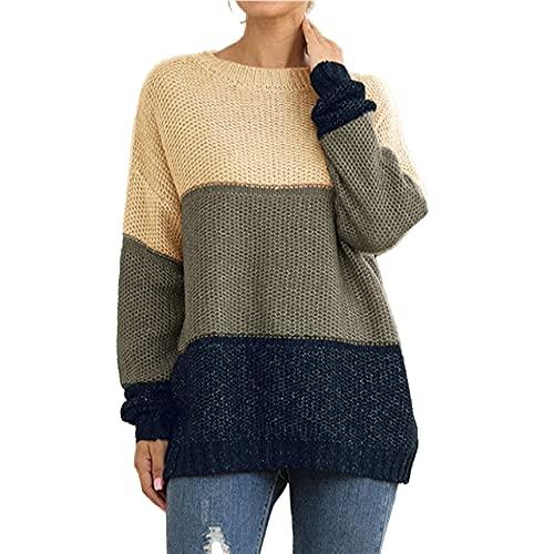 Suéter de punto pesado de las mujeres del jersey del color a juego