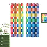 Blackout Curtains Panels, Thermal Insulation for Nursery Room, Stem of The Bamboo Plant by The River in Full Moon at Night Twilight Horizon Artful, Grey, 63×45 inch