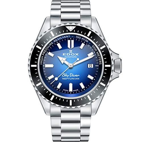 EDOX Sky Diver Nepunian - Reloj automático para hombre Swiss Made 80120 3 Nm Buidn
