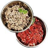 Barf-Snack biologisch artgerechtes Rohfleisch - Sparpaket Rind-Power-Mix & Rind Komplett mit Pansen 28kg Gefrierfutter/Frostfutter für Hunde & Katzen