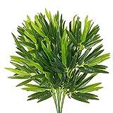 XHXSTORE 12 PCS Plantas Bambú Artificiales Hojas Verdes Falsas Ramas Plantas...