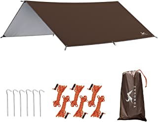 TOMOUNT タープ キャンプタープ 天幕シェード 防水 日焼け止め サンシェルター 遮熱 遮光 多機能 テントタープ コンパクト 軽量携帯便利 収納ケース付き