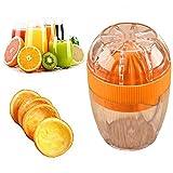 RTUQ Exprimidor de limón, mini exprimidor, exprimidor, exprimidor de frutas, molinillo de cocina, exprimidor de limas, naranja, verduras, zanahorias, mango