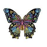 Photo de Puzzles en Bois, Jeu De Puzzle en Bois Coloré De Forme Animale pour Les Enfants, Le Jeu éDucatif Parfait pour Les Adultes Et Les Enfants (Papillon, 200 tranches)