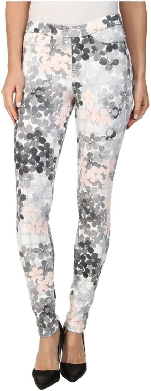 Hue Women's Leggings Faded Floral Original Denim Skimmer XSmall Bubblegum