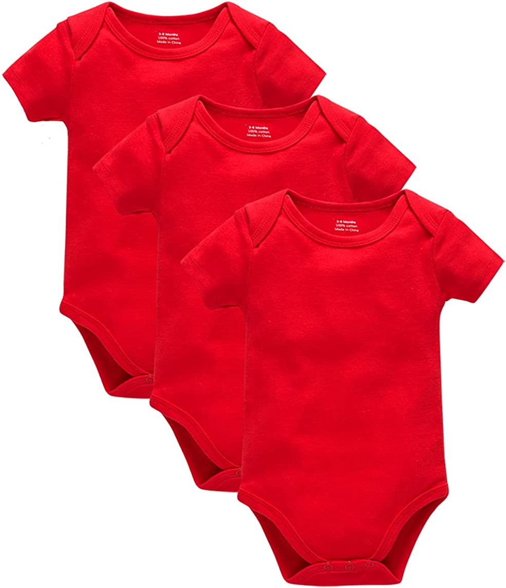 kavkas Rapid rise Baby Solid Short Sleeve Infant Boys 100% Max 61% OFF Cotton Bodysuits