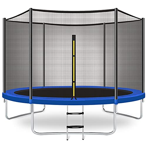 CalmMax Trampoline 10FT Jump Trampoline with Enclosure - ASTM Approved - Combo Bounce Outdoor...