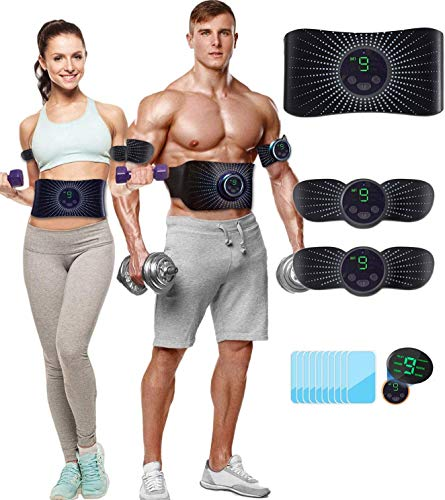Abs Stimulator Muscle Stimulator,Rechargeable Ab Machine,Abdominal Muscle Massager Electric Ab Stimulator for Women and Men - Effective Abs Trainers, Portable Fitness Abs Workout Equipment
