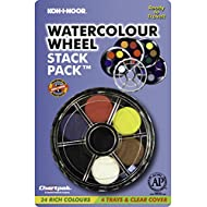 Koh-I-Noor Opaque Watercolor Paint Wheel, 24 Colors, 1 Each (FA171506.BC)