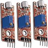 AZDelivery 3 x KY-038 Micrófono detección de Sonido de Alta sensibilidad módulo pequeño para Arduino