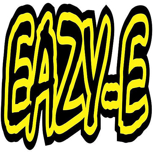 Set of 3 - Eazy-E - Full Color Logo - Sticker Graphic - Auto, Wall, Laptop, Cell, Truck Sticker for Windows, Cars, Trucks
