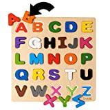 Magnetic Wooden Alphabet Puzzle - Toddler Educational Toy - Learn ABC & Colors – Montessori Education Preschool Toys - Driddle