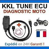 Valise Diagnostic KKL Spéciale Diagnostic MOTOS - Compatible avec TUNE ECU DUCATI APRILIA TUNEECU - Lecture / Effacements Défauts / Programmation Cartographie (Interface KKL + adaptateur 3 broches)