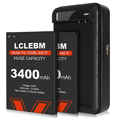 LG Stylo 3 Battery X 2, LCLEBM [3400mAh] Upgraded Replacement Li-ion Batteries with Battery Charger Kit, Replacement for LG Stylo 3 LG Stylo 3 Plus BL-44E1F LS777 Spare Battery -24 Month Warr anty