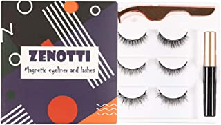 Magnetic Eyelashes and Magnetic Eyeliner Kit Natural Look Waterproof and Smudge Resistant No Glue Reusable Natural False Lashes