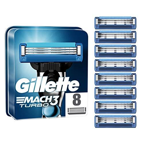 Gillette Mach3 Turbo Lamette di Ricambio per Rasoio, 8 Pezzi