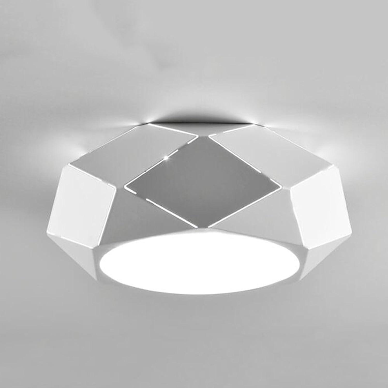 Plafonnier GJM Boutique LED Créatif Fer Simple Personnalité Géométrique étude Salle à Manger Salon économie d'énergie lumière au Plafond (Taille   28cm)