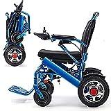 Jghjh Alluminio Leggero Pieghevole Sedia a rotelle elettrica...